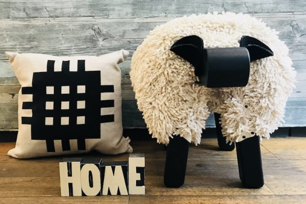Cuckoos Nest - Llandeilo Gift Shop - Cushion and Sheep Stool