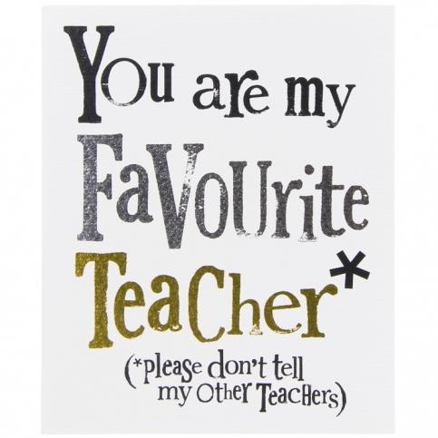 My favourite teacher nice