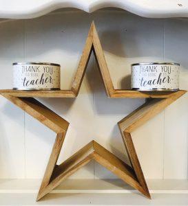 teacher gifts cuckoos wooden star.JPG